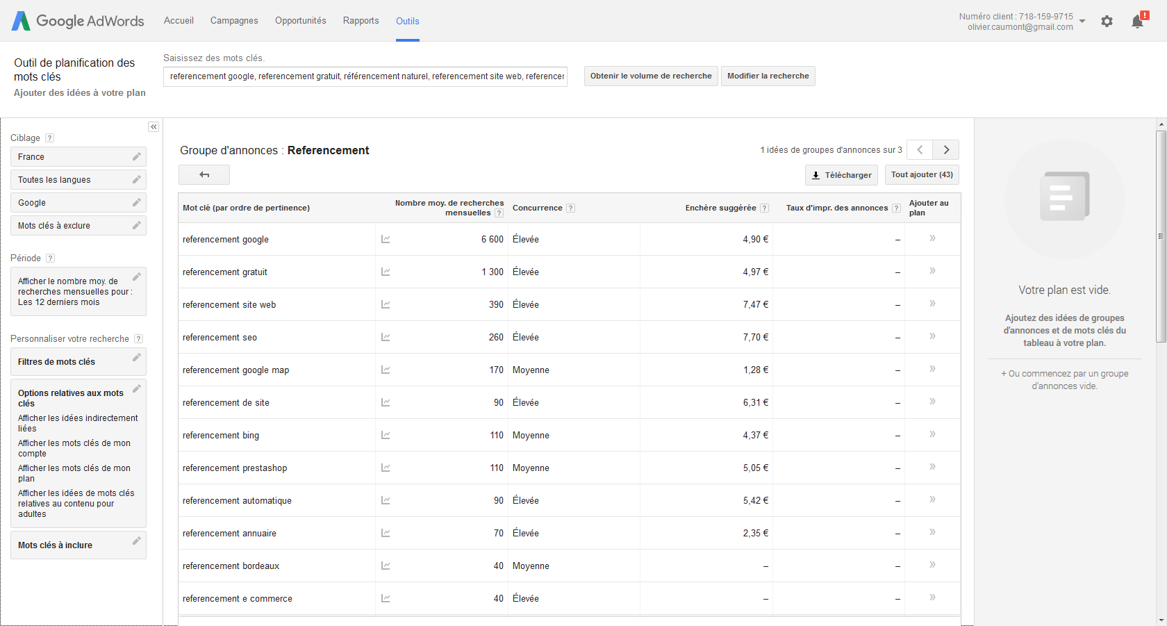 resultats adwords referencement